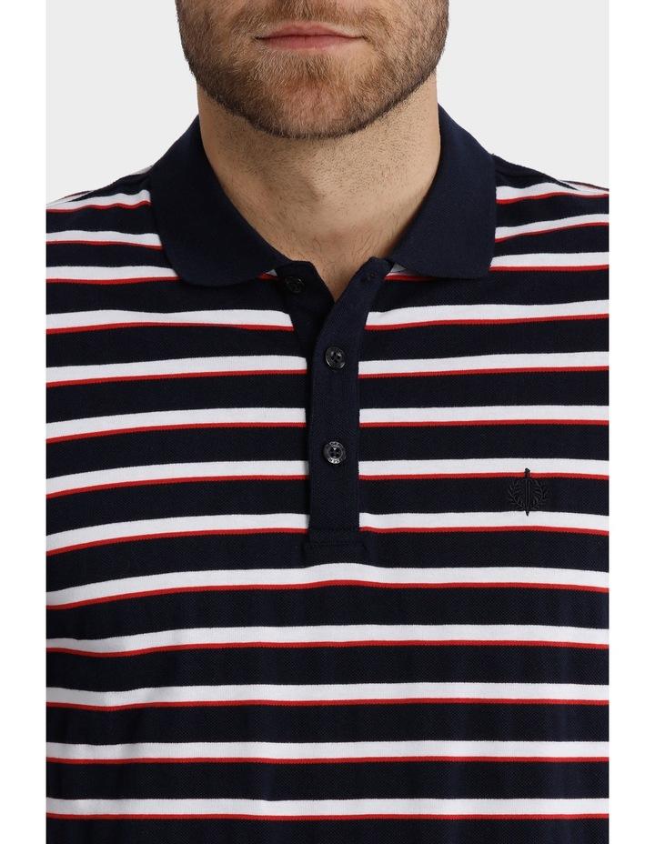 Short Sleeve Pique Stripe Polo image 4