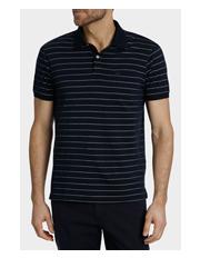 Reserve - Short Sleeve Mercersied Thin Stripe Polo