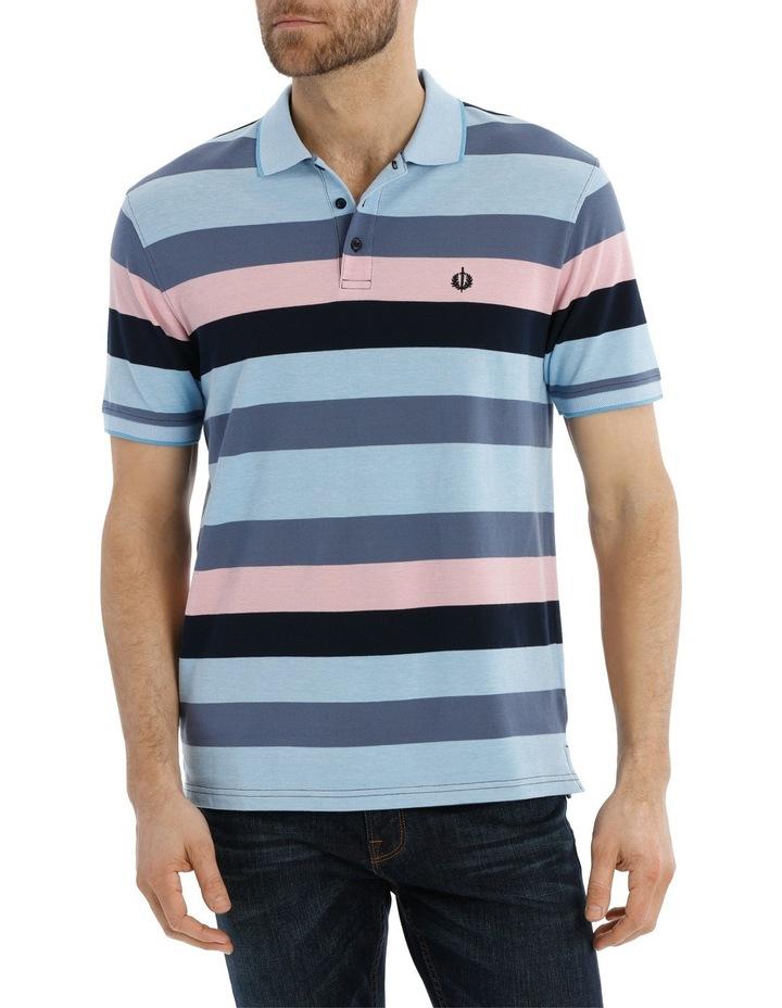 Block Stripe Polo Pique image 1