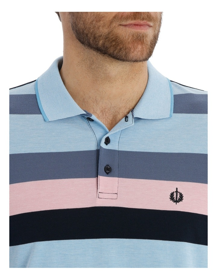 Block Stripe Polo Pique image 4