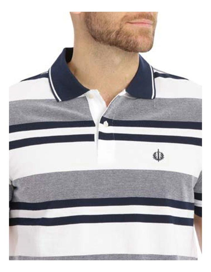 Hudson Multi Stripe Birdseye Polo image 4