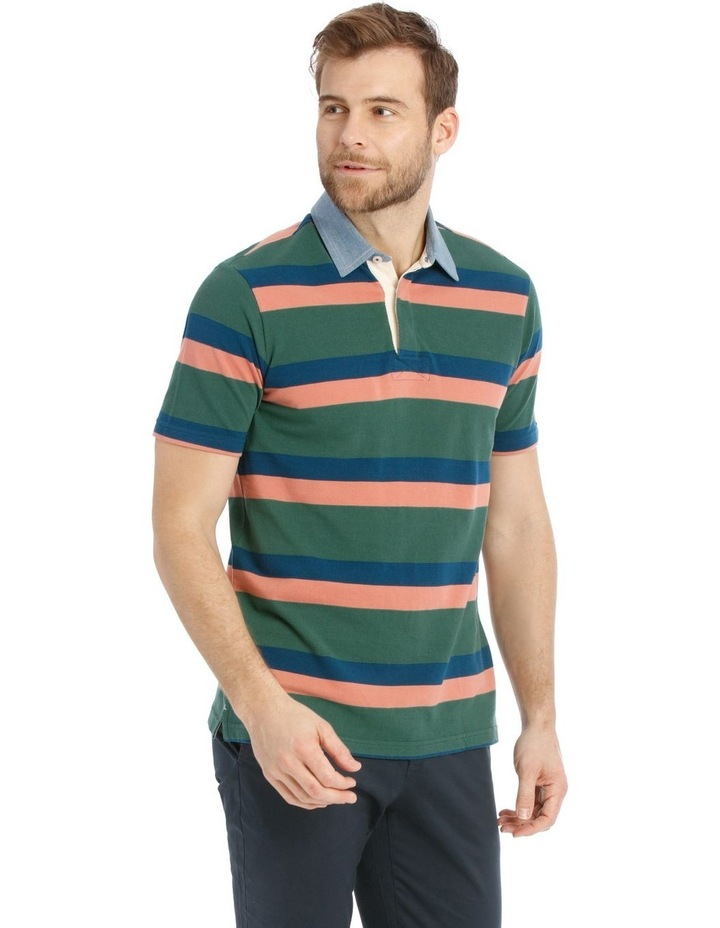 Stiles Pique Stripe Rugby Polo image 2