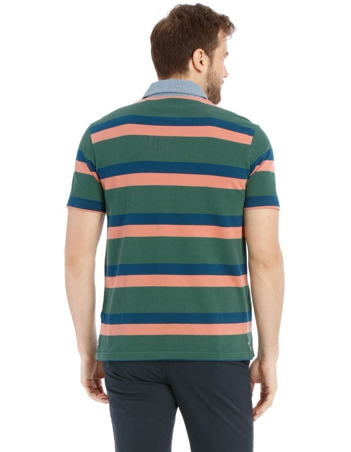 Stiles Pique Stripe Rugby Polo image 3
