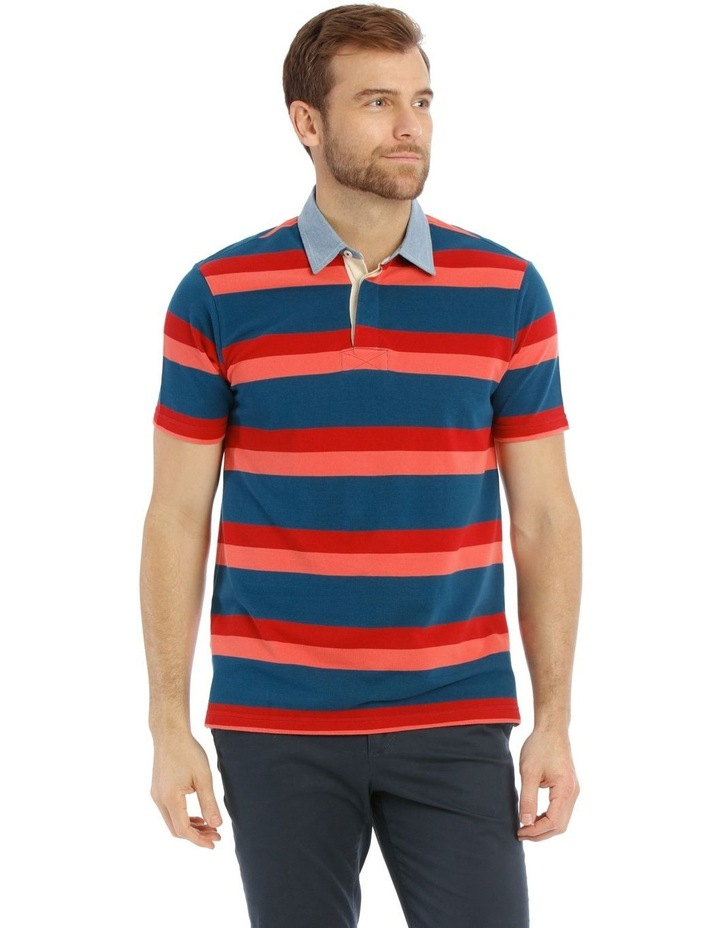 Stiles Pique Stripe Rugby Polo image 1