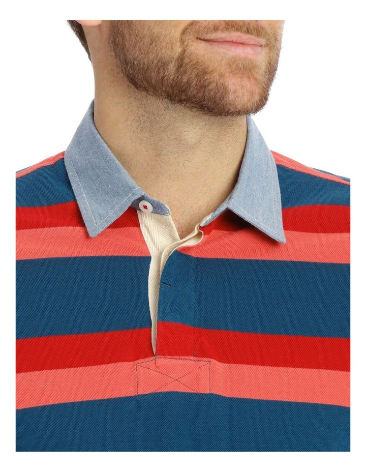 Stiles Pique Stripe Rugby Polo image 4