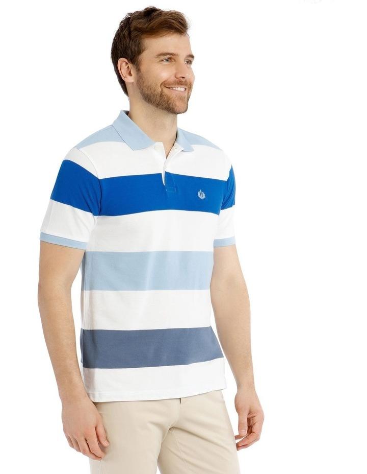 Harvard Stripe Pique Polo image 2