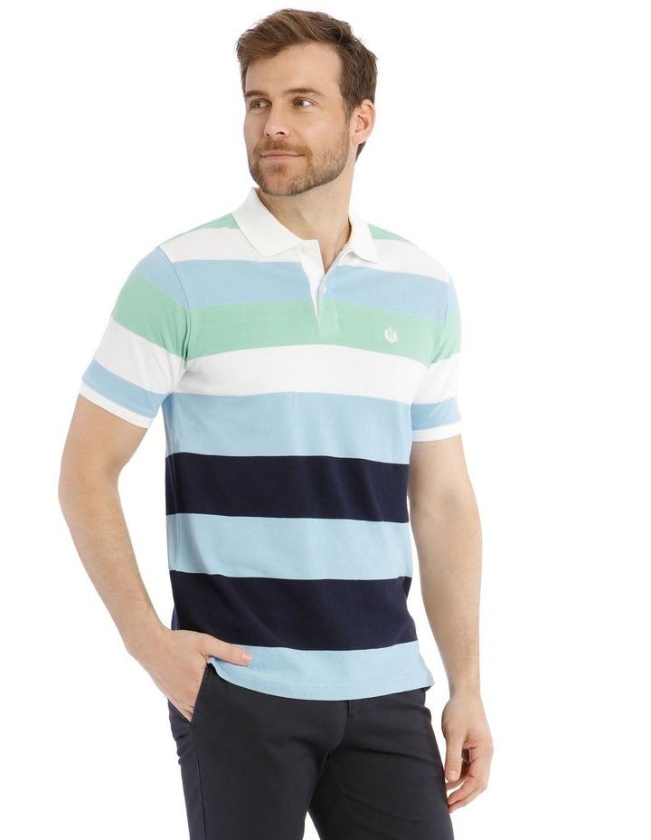 Marlow Stripe Pique Polo image 2
