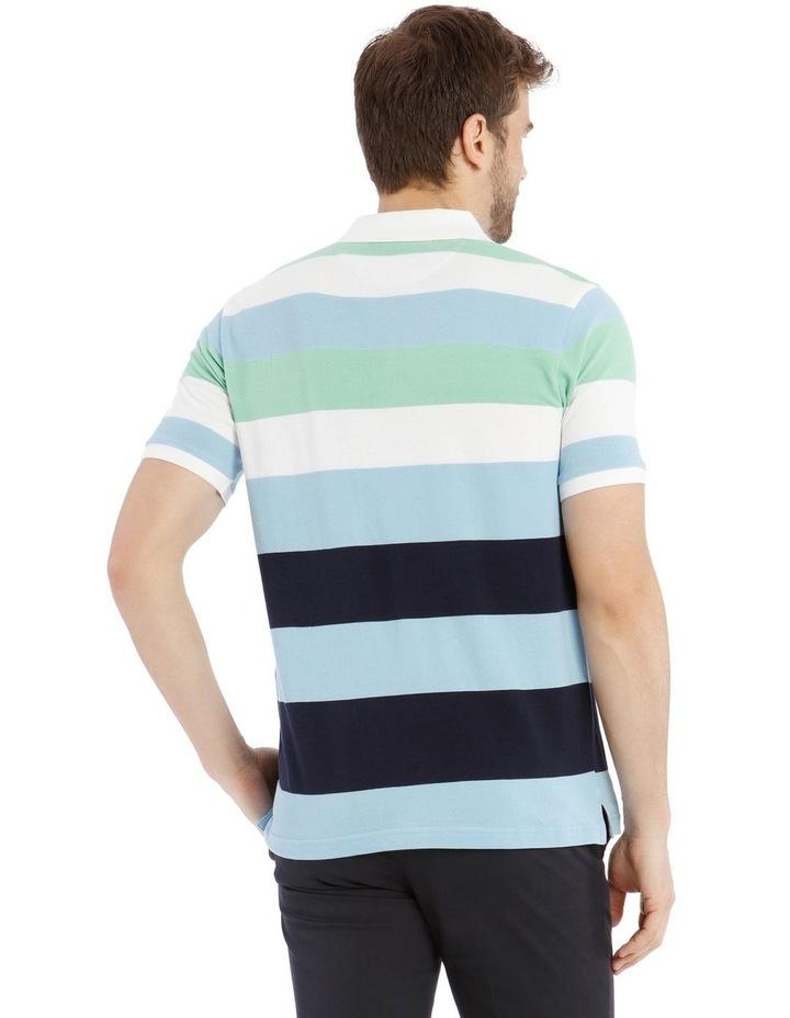 Marlow Stripe Pique Polo image 3