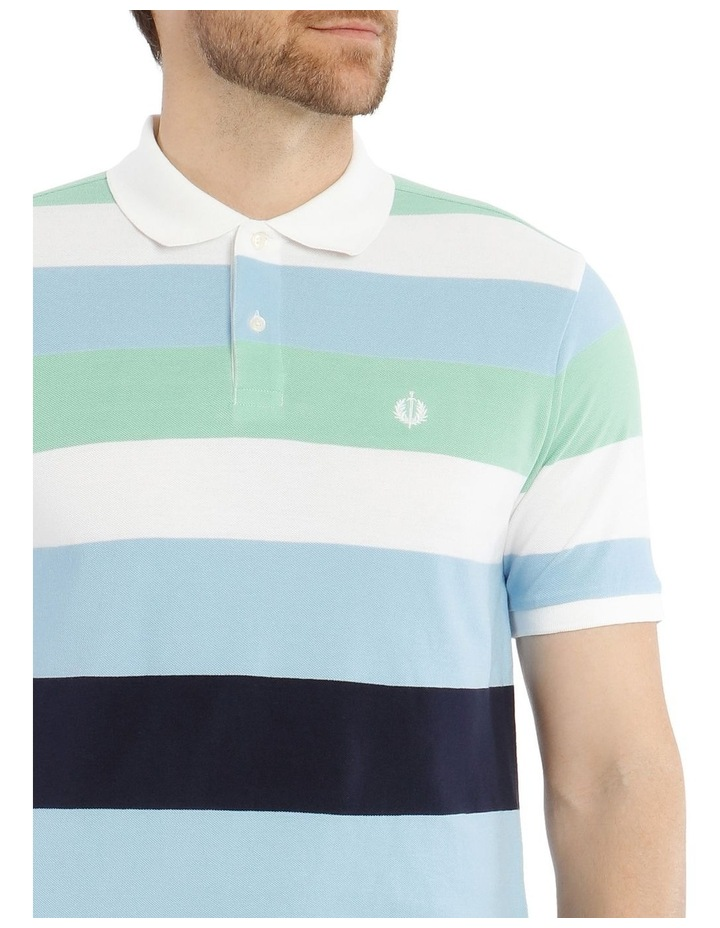Marlow Stripe Pique Polo image 4