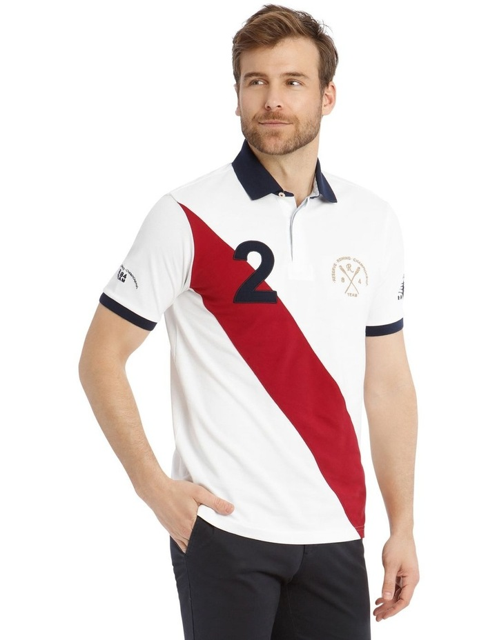 Championship Pique Polo - White/Red image 2