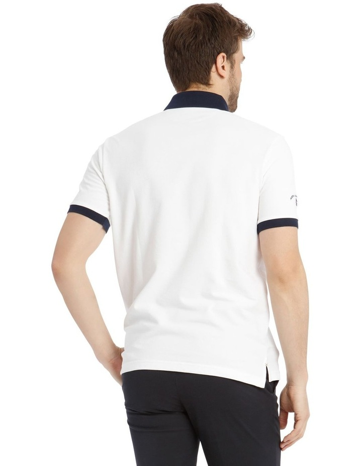 Championship Pique Polo - White/Red image 3