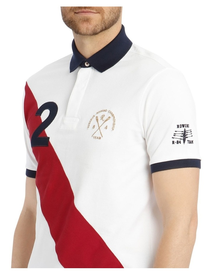 Championship Pique Polo - White/Red image 4