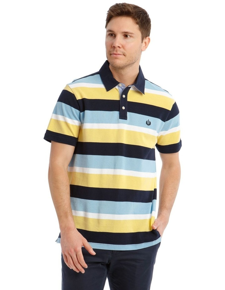 Surrey Pique Stripe Hot Price Polo image 1