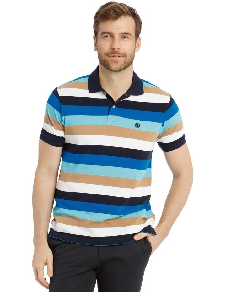 Palmer Pique Stripe Hot Price Polo Shirt image 1