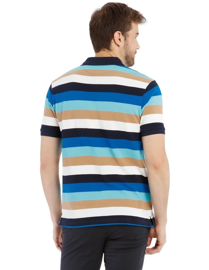 Palmer Pique Stripe Hot Price Polo Shirt image 3