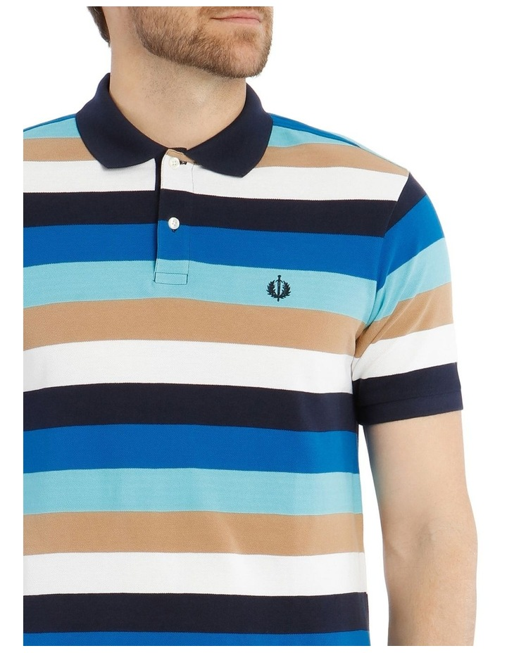Palmer Pique Stripe Hot Price Polo Shirt image 4