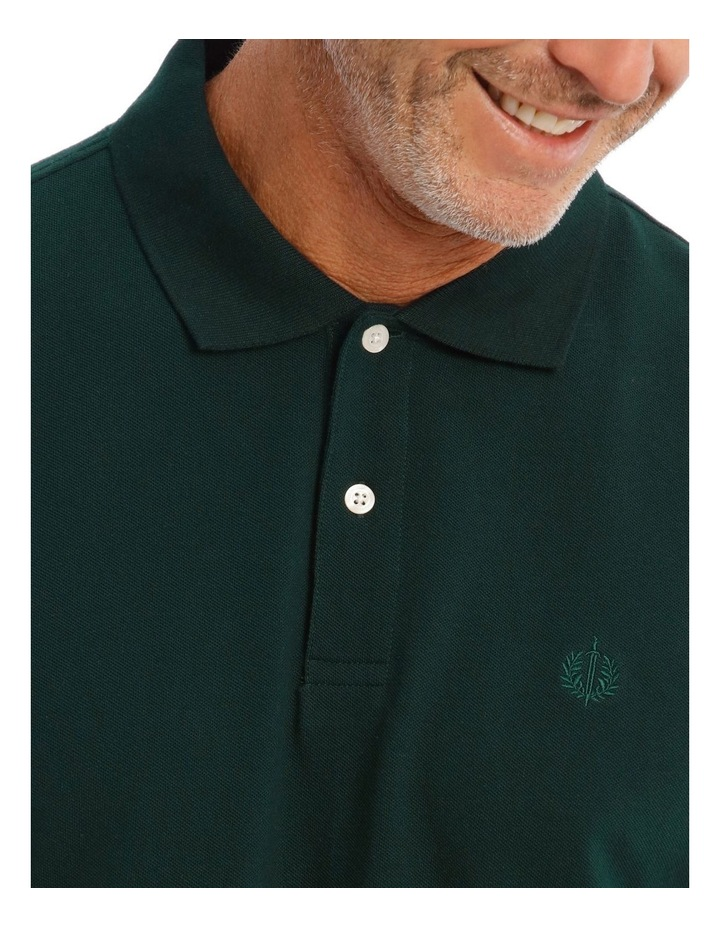 Essential Plain Polo In Emerald image 2