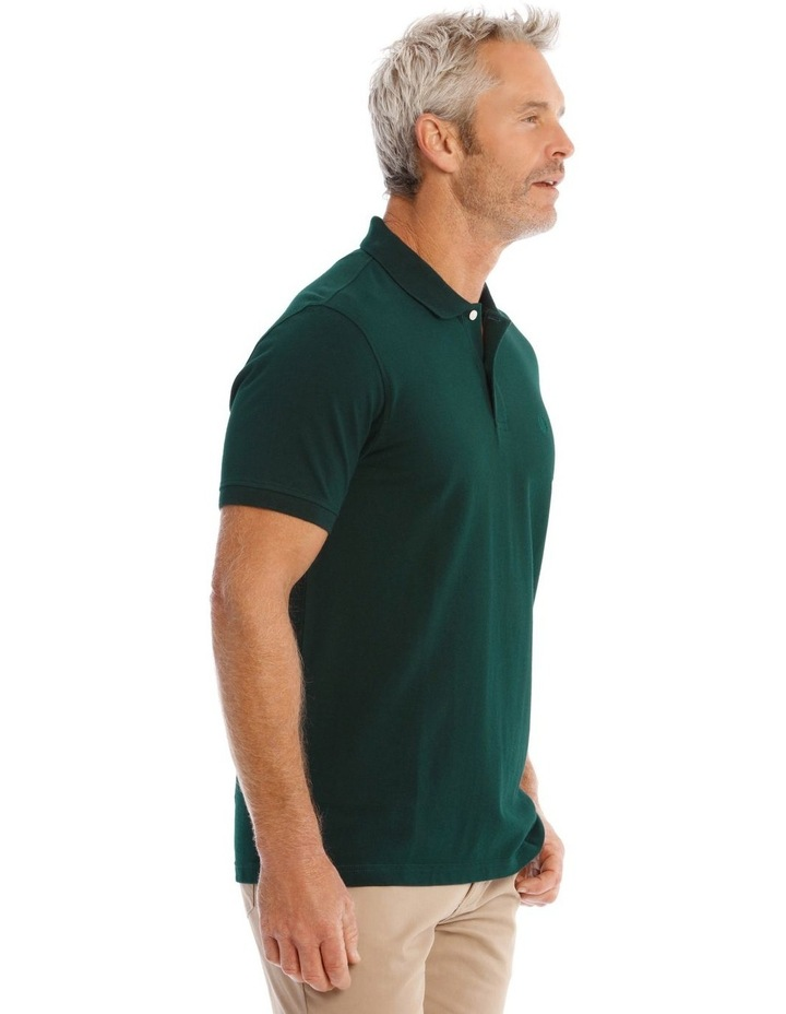 Essential Plain Polo In Emerald image 3