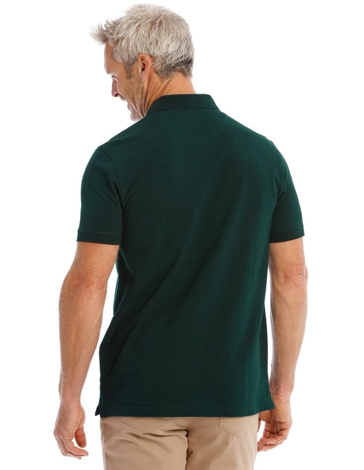 Essential Plain Polo In Emerald image 4