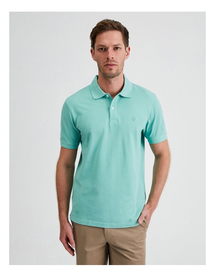 Essential Plain Polo in Jade image 1