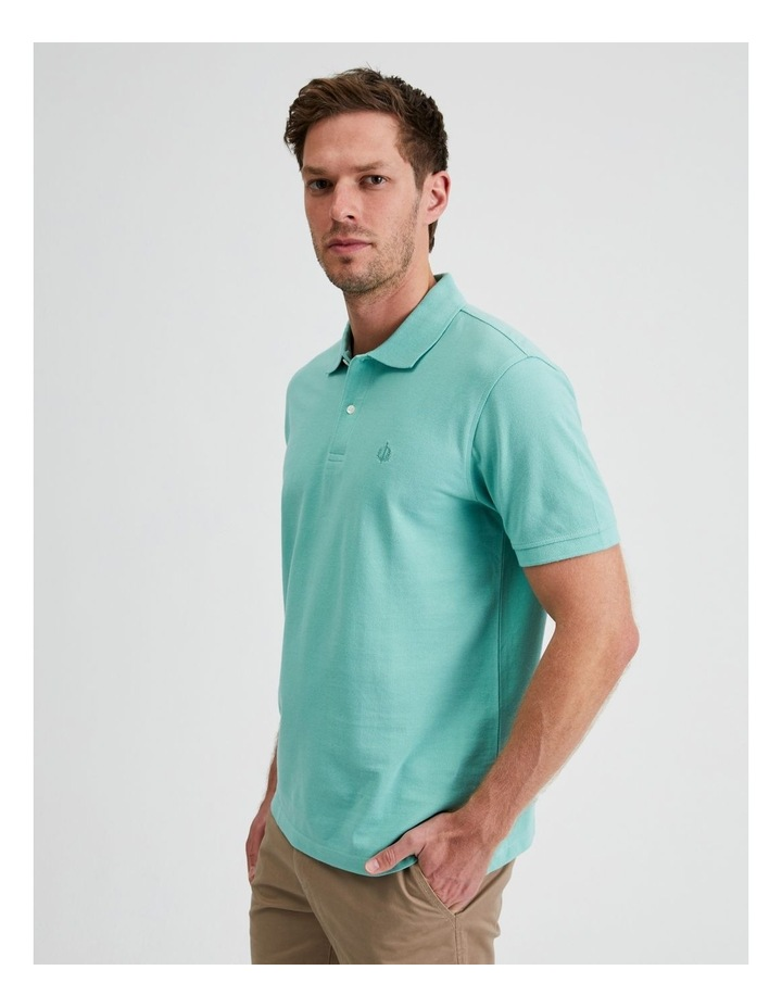 Essential Plain Polo in Jade image 2