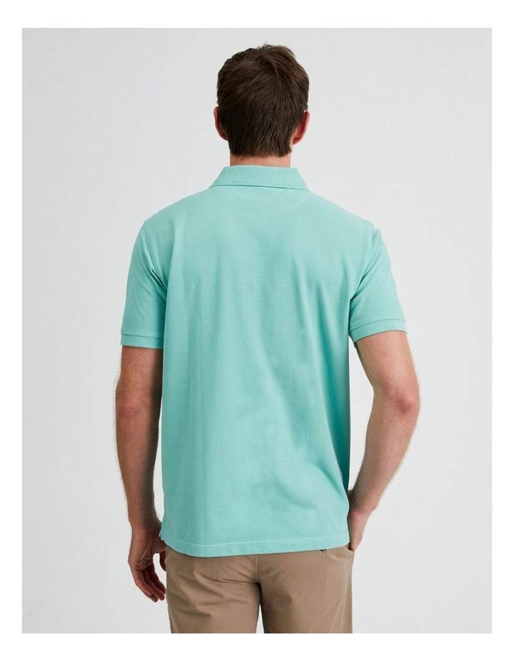 Essential Plain Polo in Jade image 3