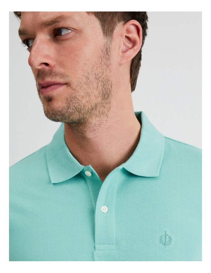 Essential Plain Polo in Jade image 5