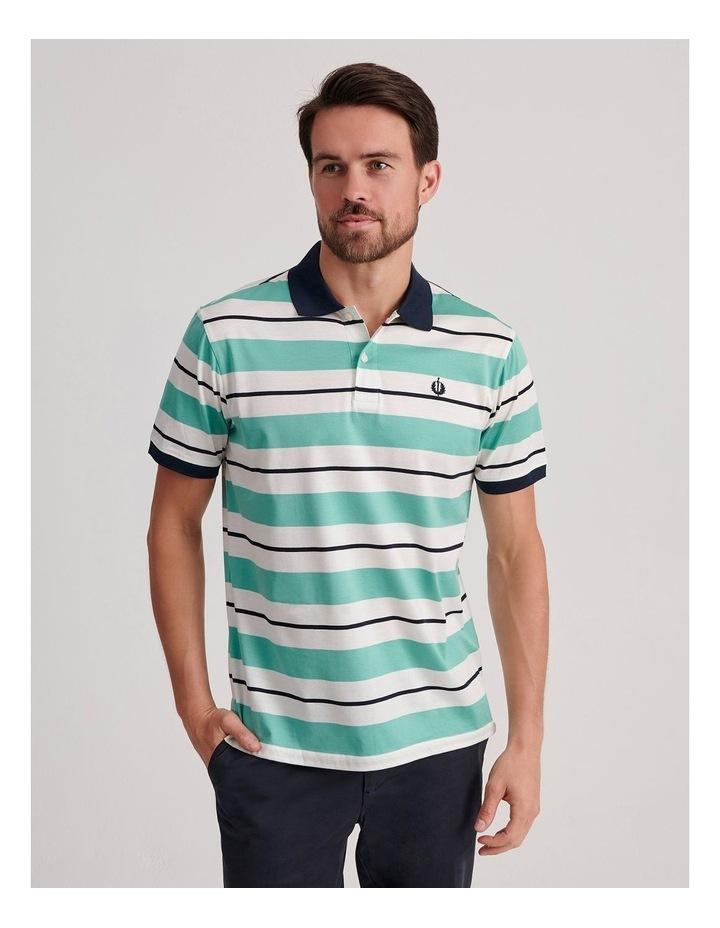 Apperley Mercerised Jersey Stripe Polo image 1
