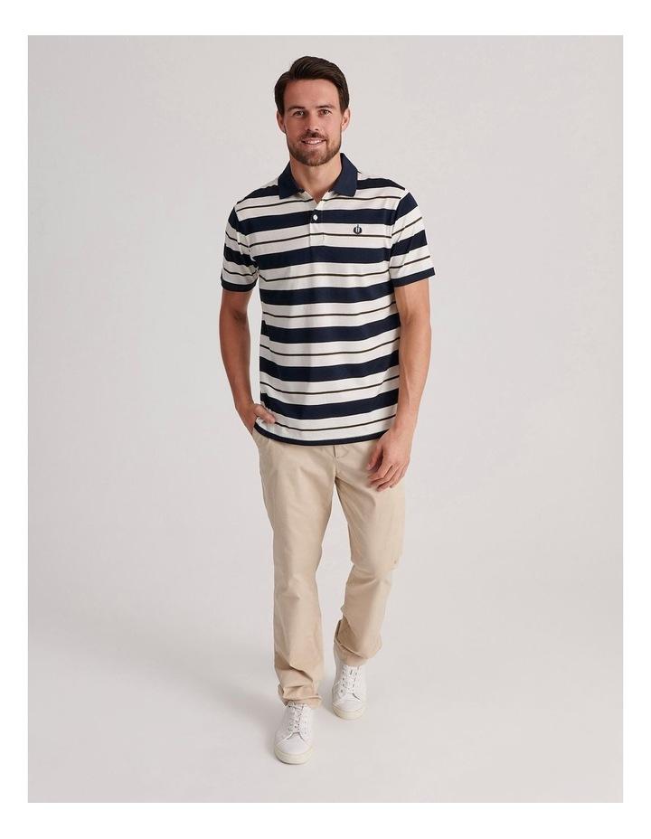 Apperley Mercerised Jersey Stripe Polo image 2