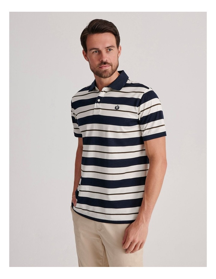 Apperley Mercerised Jersey Stripe Polo image 3