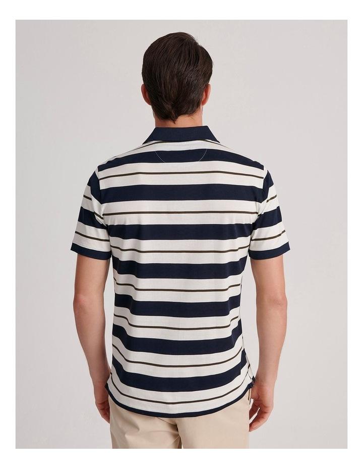 Apperley Mercerised Jersey Stripe Polo image 4
