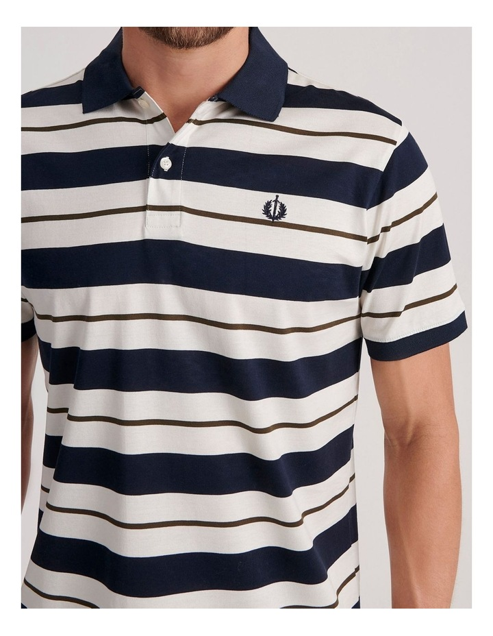 Apperley Mercerised Jersey Stripe Polo image 5