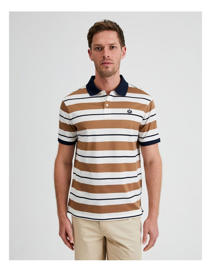 Apperley Mercerised Jersey Stripe Polo image 1