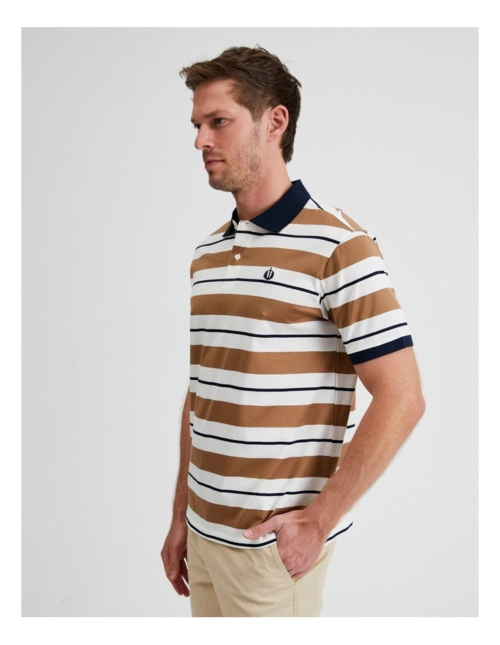 Apperley Mercerised Jersey Stripe Polo image 2