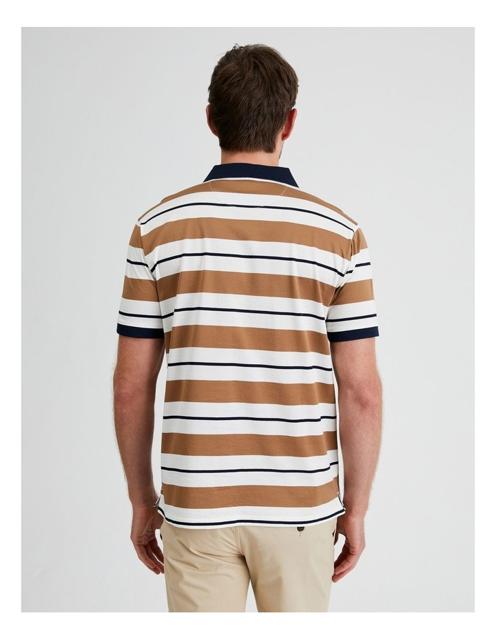 Apperley Mercerised Jersey Stripe Polo image 3
