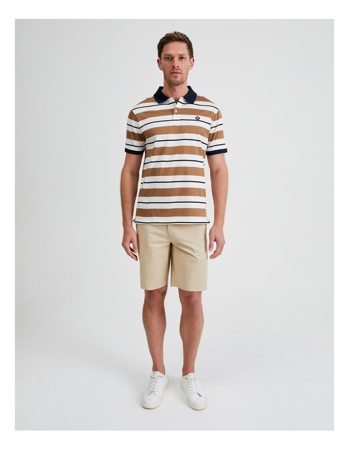 Apperley Mercerised Jersey Stripe Polo image 4