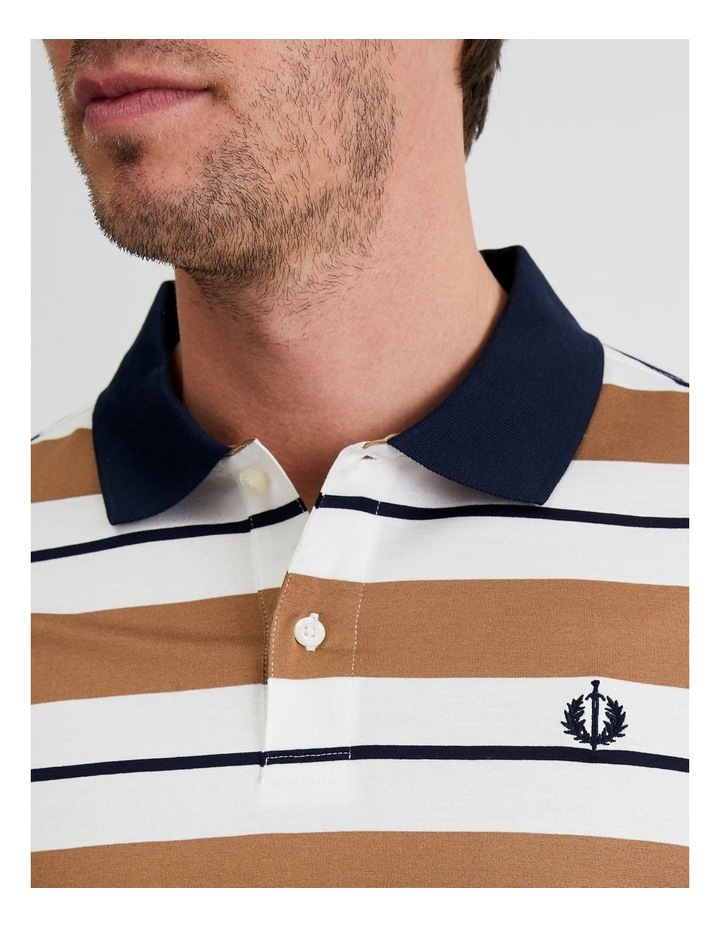 Apperley Mercerised Jersey Stripe Polo image 5