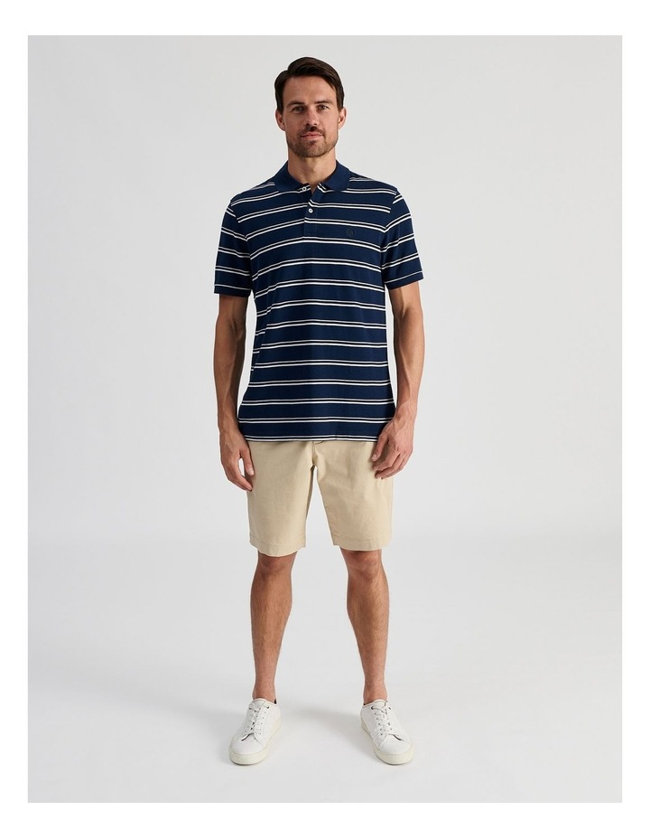 Hobsons Bay Stripe Polo Navy image 2