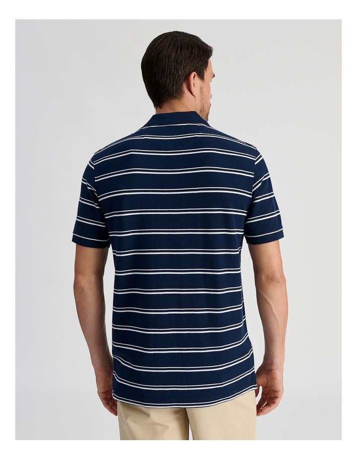 Hobsons Bay Stripe Polo Navy image 4