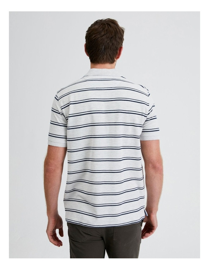 Hobsons Bay Stripe Polo in Grey Marle image 3