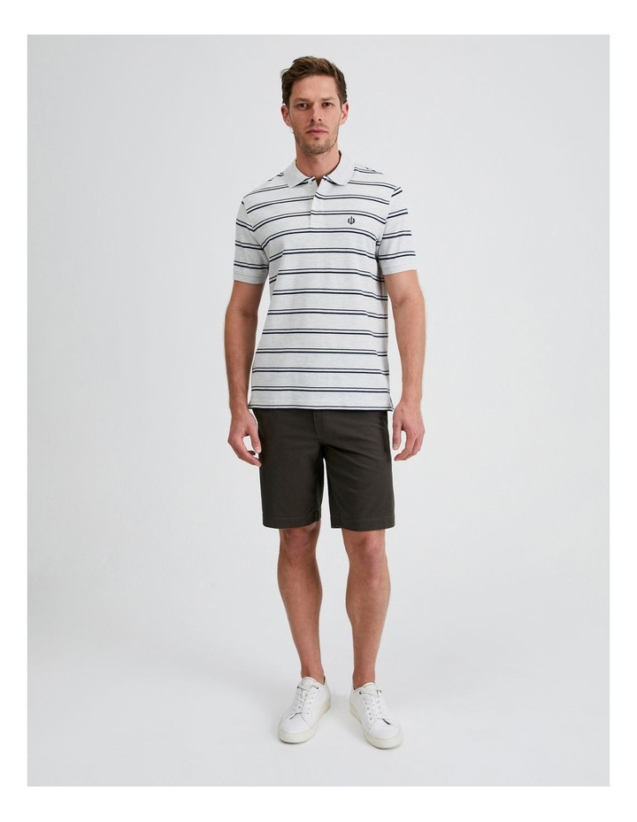 Hobsons Bay Stripe Polo in Grey Marle image 4