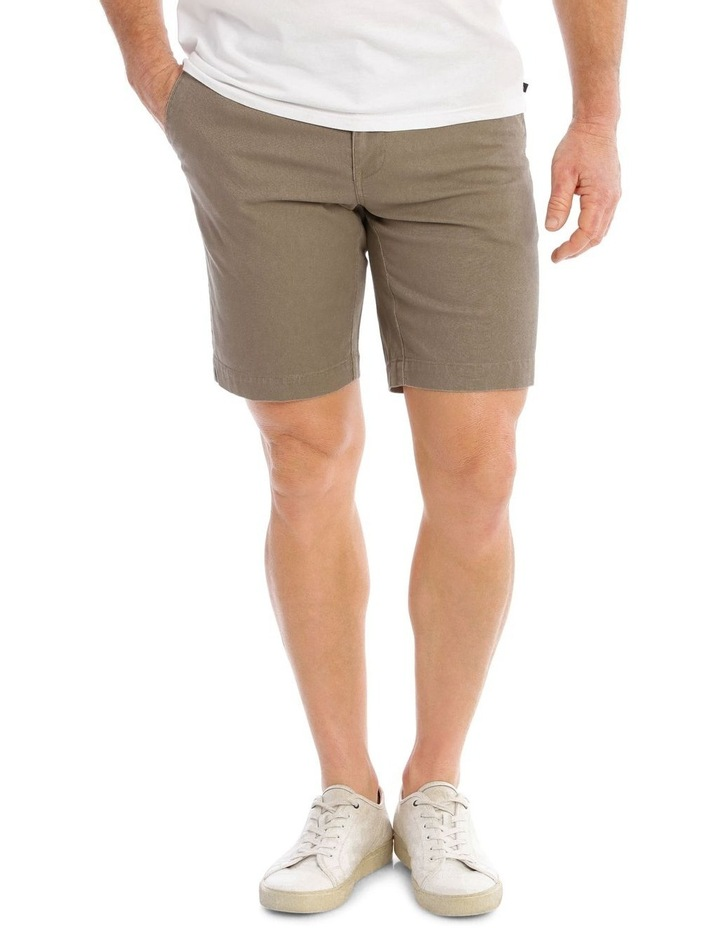 Norfolk Textured Short in Taupe image 1