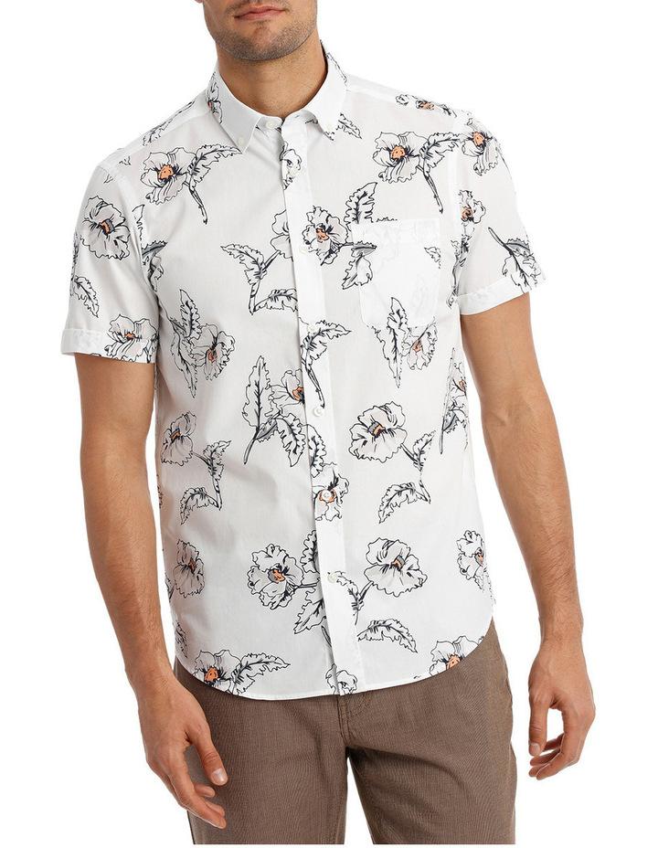 Short Sleeve Hibiscus Print Shirt image 1