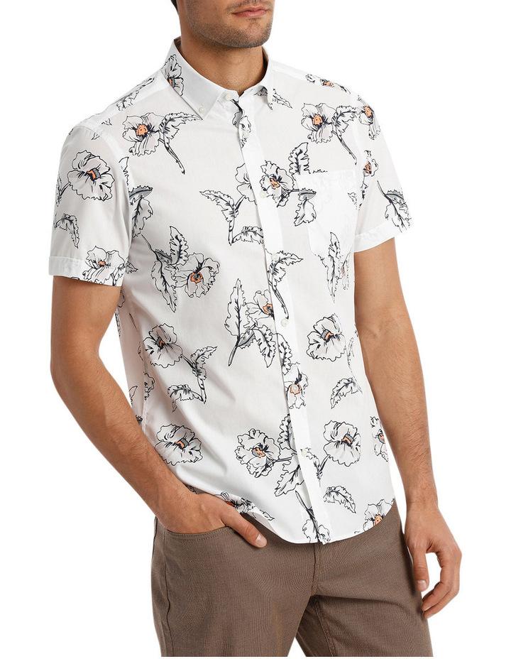 Short Sleeve Hibiscus Print Shirt image 2