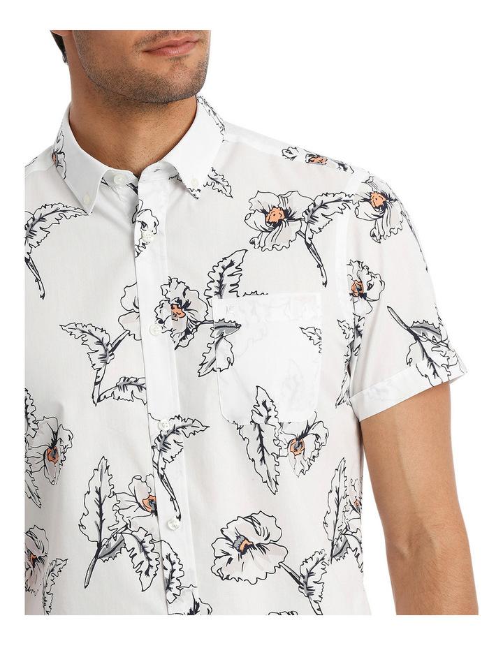 Short Sleeve Hibiscus Print Shirt image 4