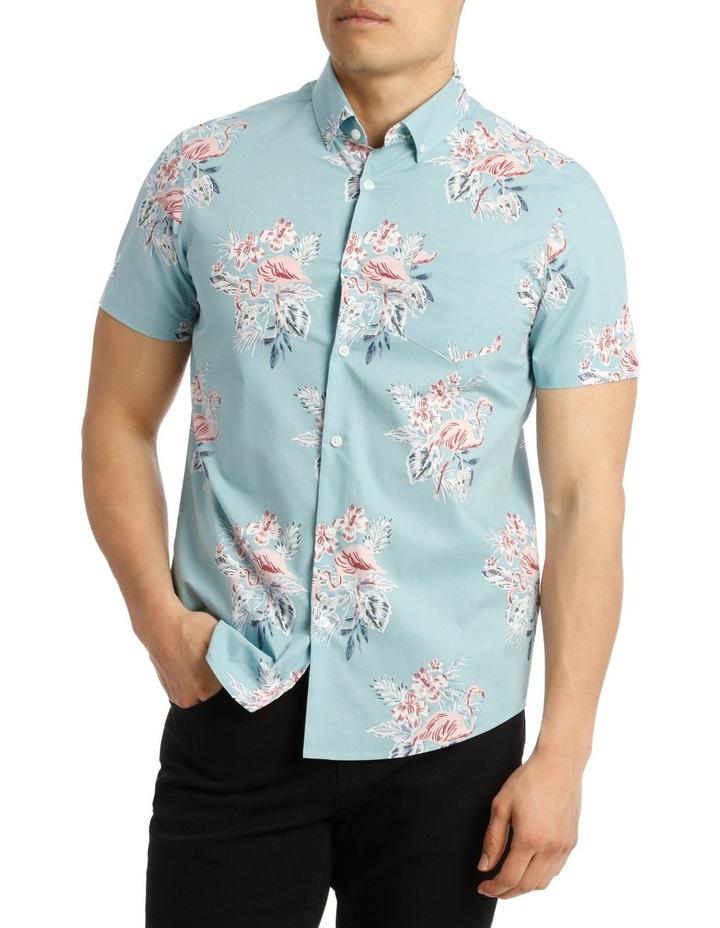 Short Sleeve South Hampton Flamingo Print Shirt image 1