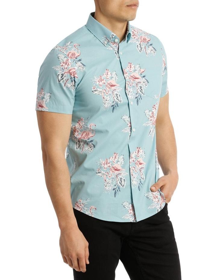 Short Sleeve South Hampton Flamingo Print Shirt image 2