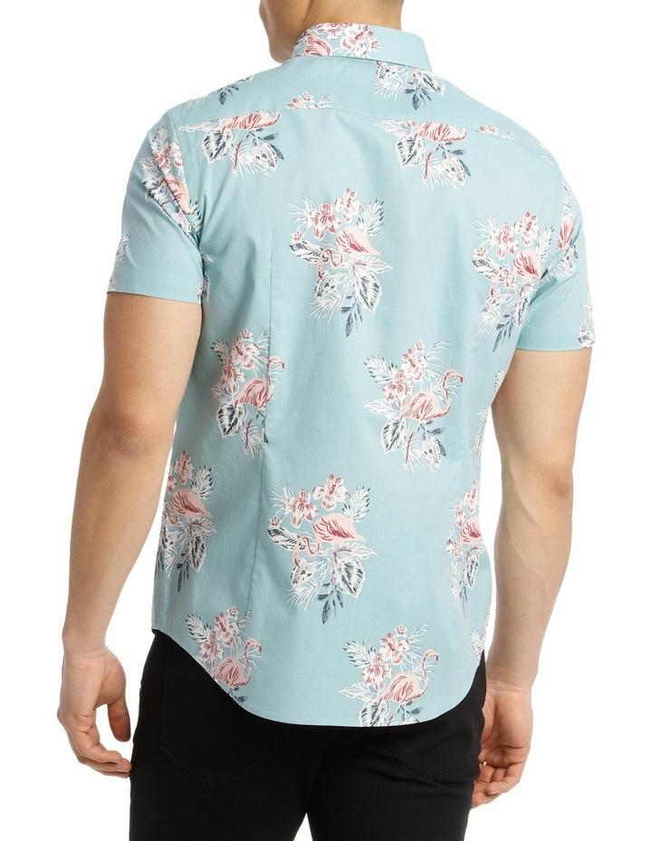 Short Sleeve South Hampton Flamingo Print Shirt image 3