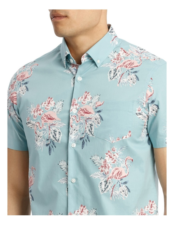 Short Sleeve South Hampton Flamingo Print Shirt image 4