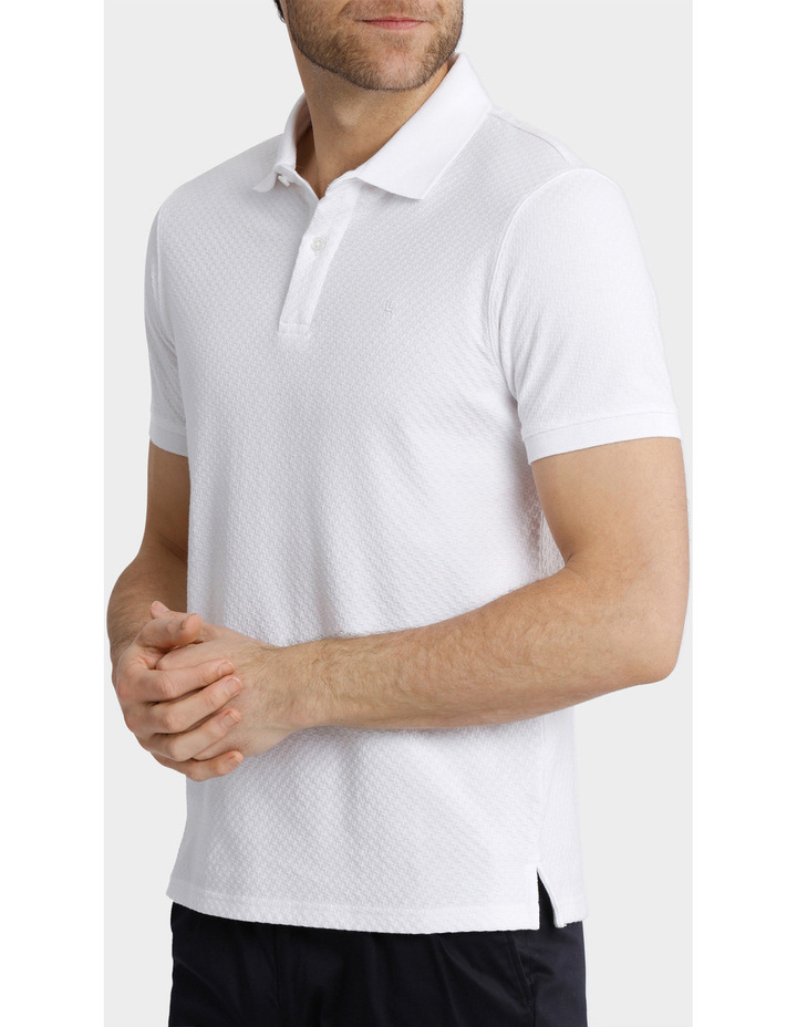 Short Sleeve Textured Polo image 2